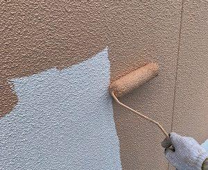 2F外壁上塗り1回目